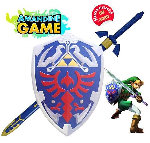 Lot Bouclier de Link + Petite épée  - Réf: Lot 1 Zelda