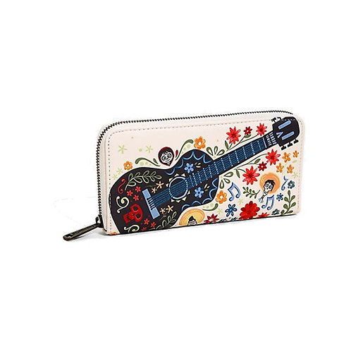 Disney Loungefly Portefeuille Coco Guitare Broderie Exclu