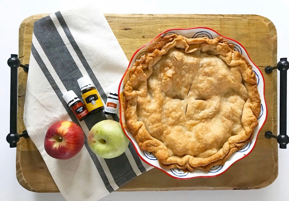 apple pie, baking with oils, vitality oil recipe, vitality oil, young living oils, essential oils, baking with essential oils, cooking with essential oils, Pillsbury crust, apple pie recipe, perfect apple pie, fresh, homemade apple pie, nutmeg vitality oil, cinnamon bark vitality oil, lemon vitality oil