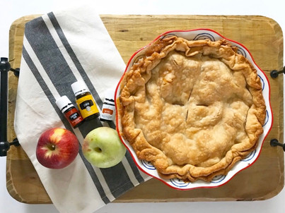 Essential Oil Infused Apple Pie