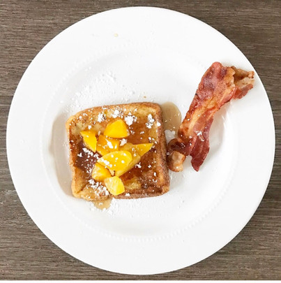 Rum Peach French Toast