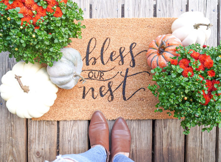 DIY Fall Welcome Mat