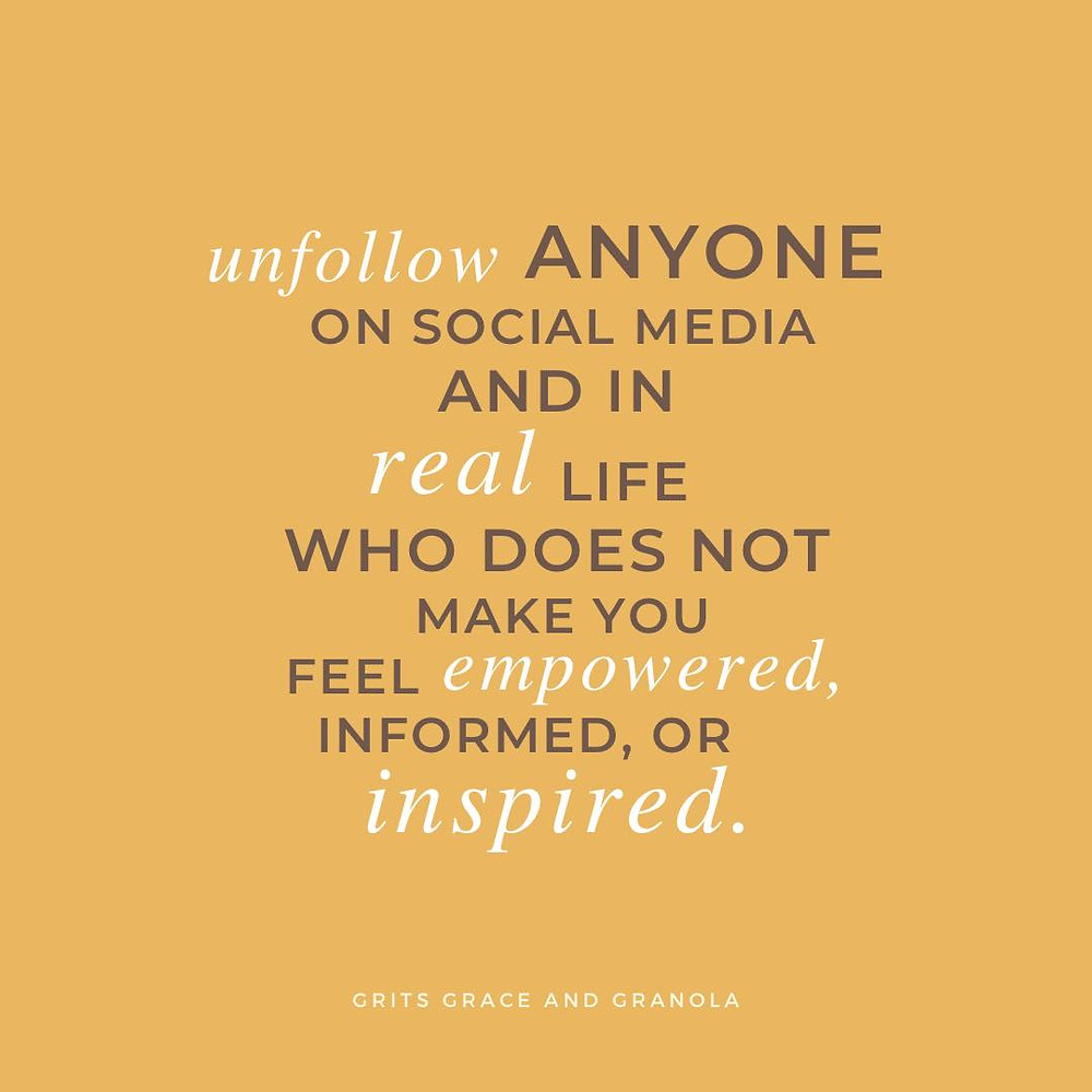 cultivate, cultivate what matters, cultivate your life, unfollow, cultivate social media, social media, unfollow, positivity, positive vibes, how to follow, who to follow, how to create social media that empowers you