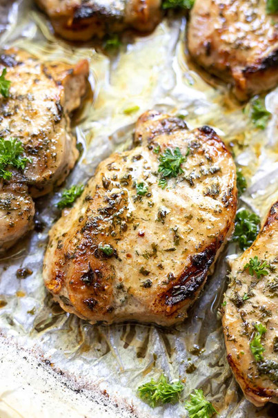 Grilled Ranch Pork Chops