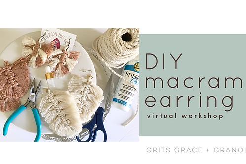 DIY macrame earring virtual workshop