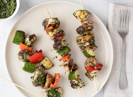 Chimichurri Chicken Kebabs Wraps Reinvented