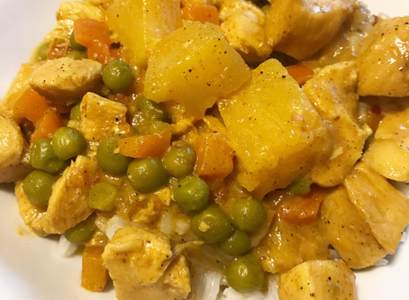 Instant Pot Pineapple Coconut Chicken Curry