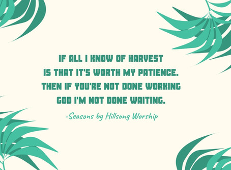 Patience in the Work God is Performing