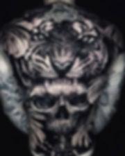 Tiger, skull and eye of providence full
