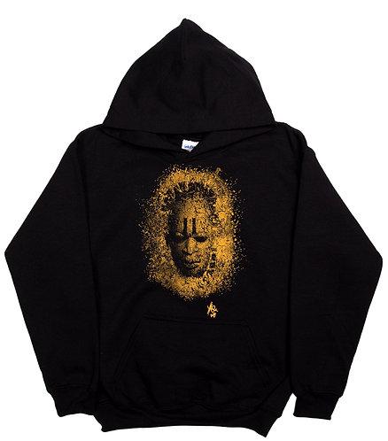 MaskBL -Hoodie -Gold