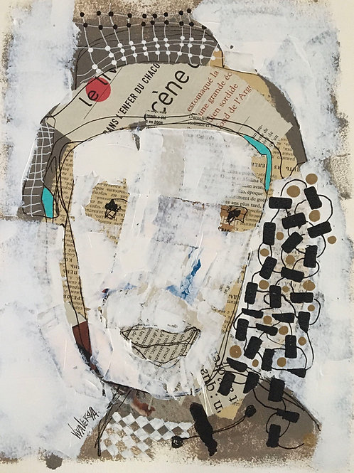 "Vida Verba, portrait ""Confinement"" Homme blanc"