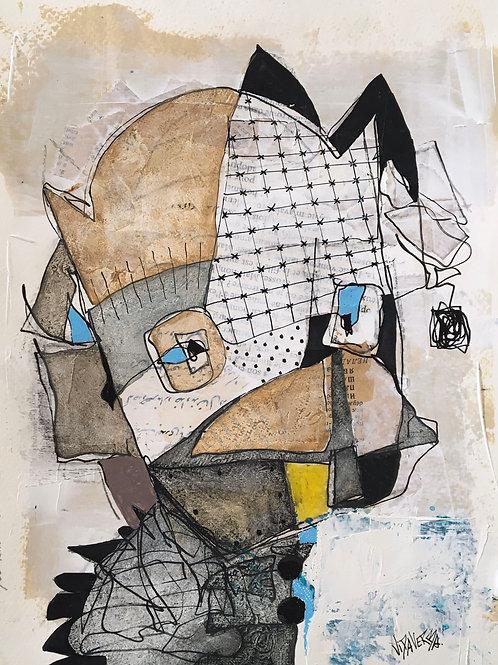 "Vida Verba, portrait ""Confinement"" Roi masque"