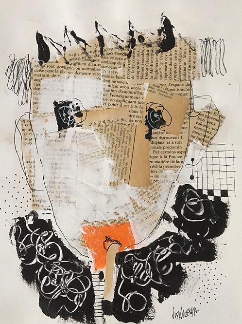 """Vida Verba, portrait """"Confinement"""" Fumeur"""