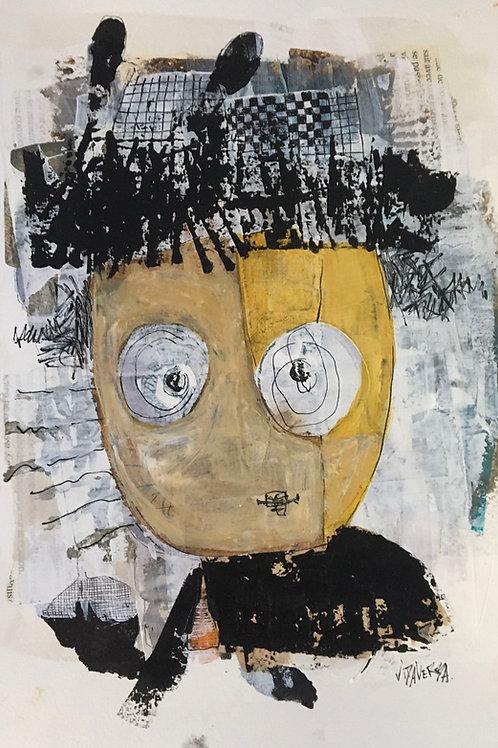 """Vida Verba, portrait """"Confinement"""" Marcel"""