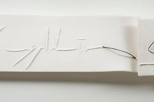 Tableau en porcelain & metal - Faezeh Afchary Kord