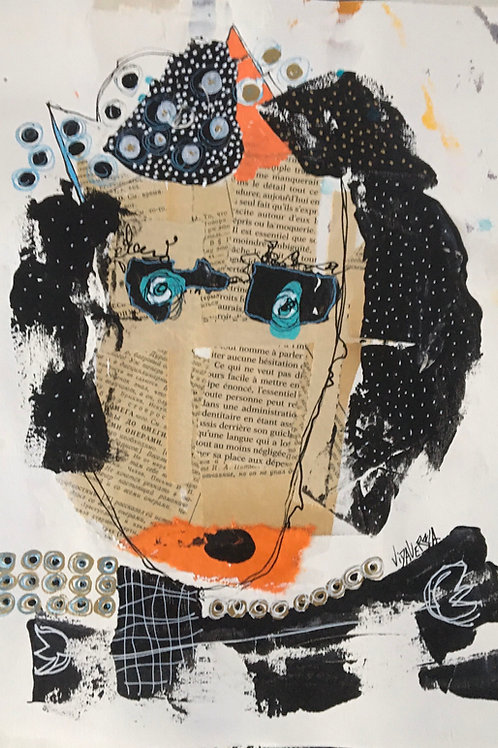 "Vida Verba, portrait ""Confinement"" Natacha"