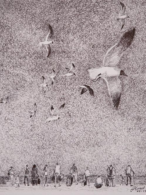 Attente sur la plage, Hamid Pourbahrami