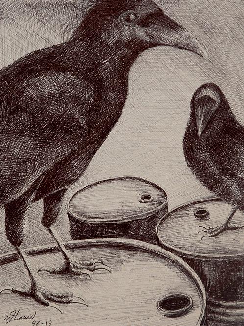 Corbeaux et barils, Hamid Pourbahrami