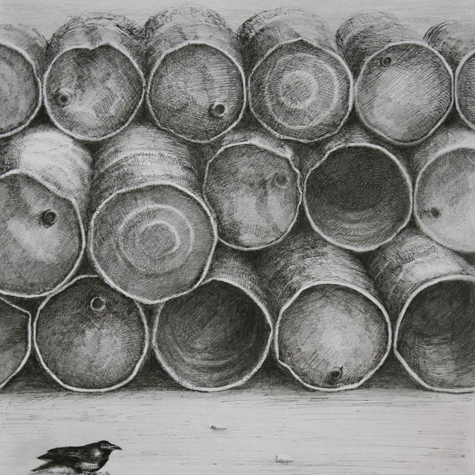 Hamid Pourbahrami, Barils de pétrole .jp