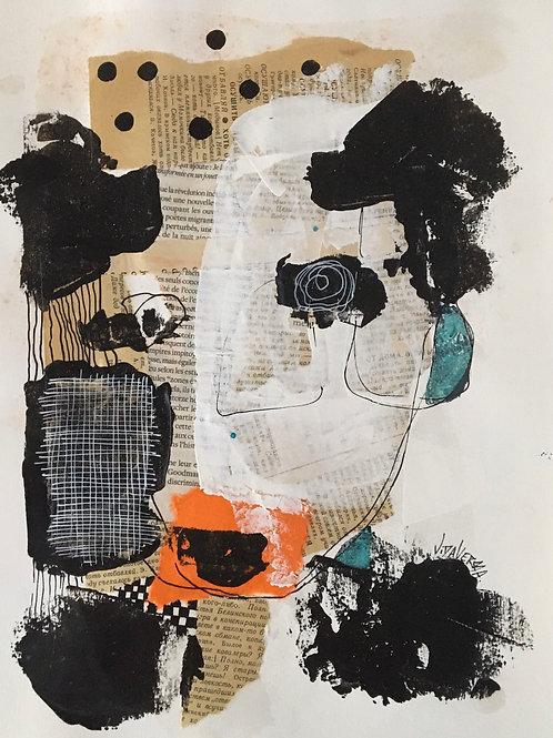 """Vida Verba, portrait """"Confinement""""Oreille bleu"""