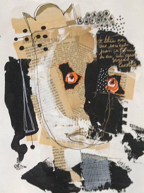 """Vida Verba, portrait """"Confinement"""" Galina"""