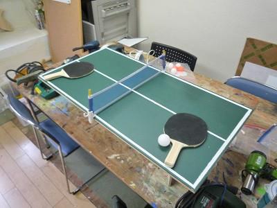 夏休み自由研究で卓球を作ろう