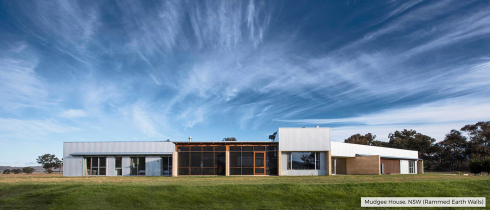 Mudgee House, NSW (Rammed Earth Wall)
