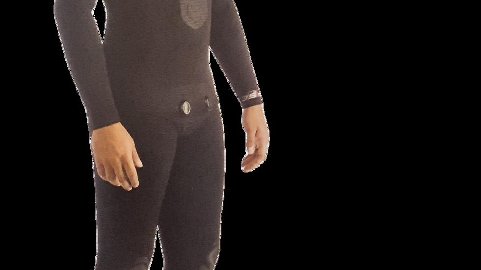 Neoprenanzug schwarz 2-Teilig, Apnea 5.0 mm