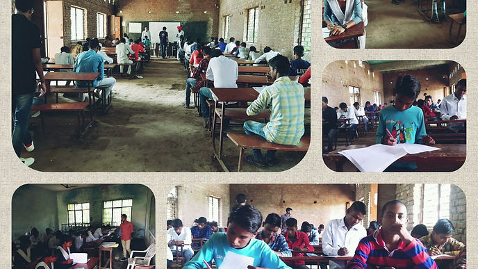 We conducted an exam of more than one thousand students in the nearby schools of Amethi on Thursday i.e.on 10th Of October, 2019.