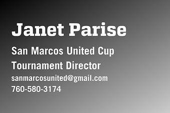 San Marcos United - Tournament Director.