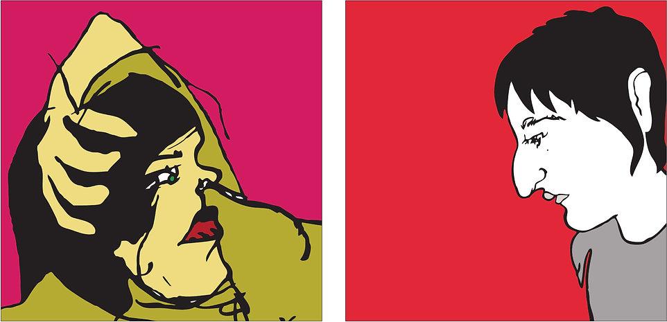 ilustración, restaurante, barcelona, pintura, diseño, moderno