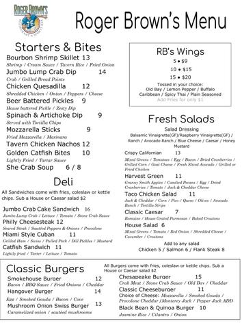 RBs menu 5-22