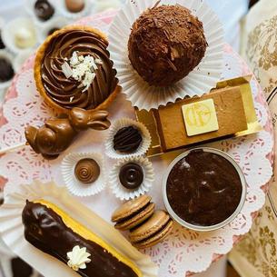 seasonal chocolate candy and tarts