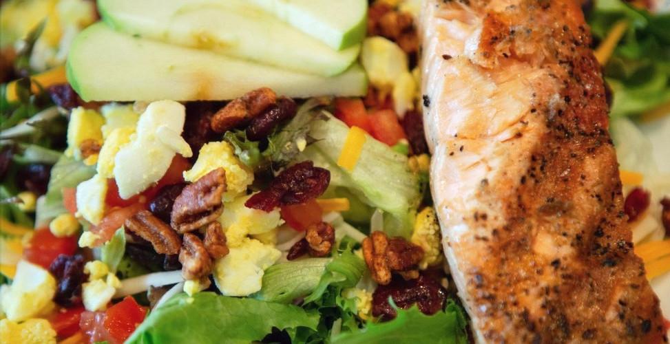 Harvest Salad with Salmon