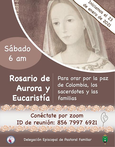 Sábado - Rosario de Aurora y Eucaristí