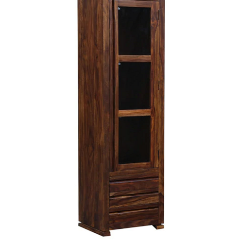 Sengar Book Case (Dark Teak Finish)