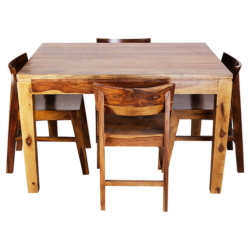 ULVIL SHEESHAM DINING SET (4 SEATS)