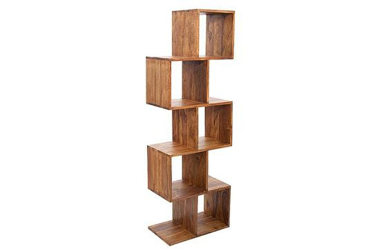 sheesham wood bookshelf with small floor area