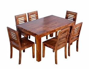 BERNARD SHEESHAM DINING SET (6 SEATS)