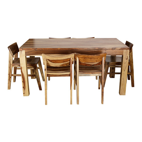 ULVIL SHEESHAM DINING SET (6 SEATS)