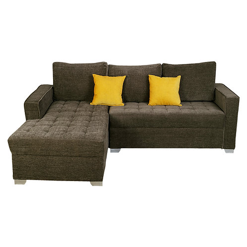 BORG L-SHAPED FABRIC SOFA (3 SEAT)