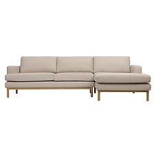 Hvit L-shape Sofa