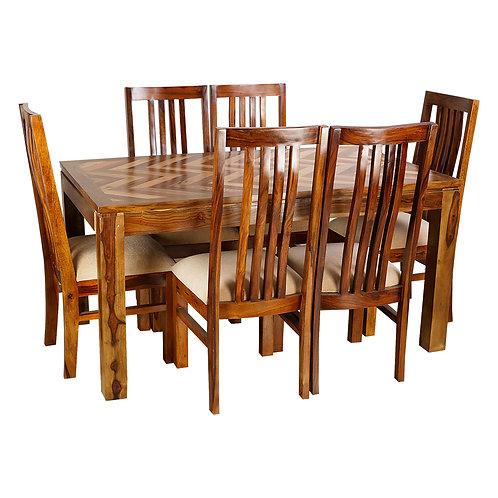 SOMERO SHEESHAM DINING SET (6 SEATS)