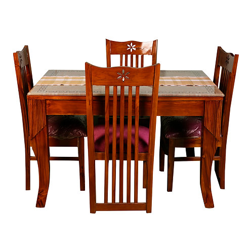 ALMAR TEAK WOOD DINING SET (4 SEATS)