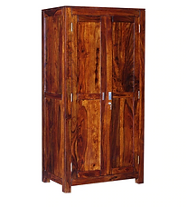 Ariel Sheesham Wardrobe Honey Oak Finish