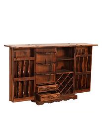 Glenmorgan Solid Wood Bar Cabinet