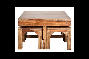 Advika Center Table Set (4 stools)