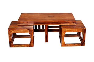 Fedor Center Table Set (2 stools)