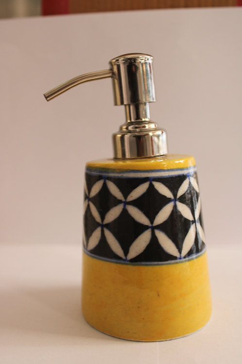 Yellow Zebra Soap Dispenser