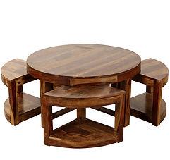 Husta Sheesham Coffee/Center Table Set